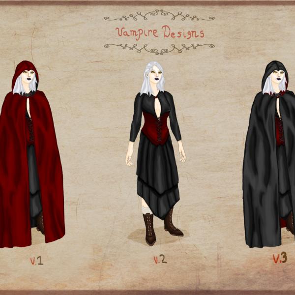 Female Vampire - Concept Art